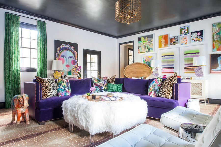 Cozy-eclectic-living-room-with-a-splash-of-color