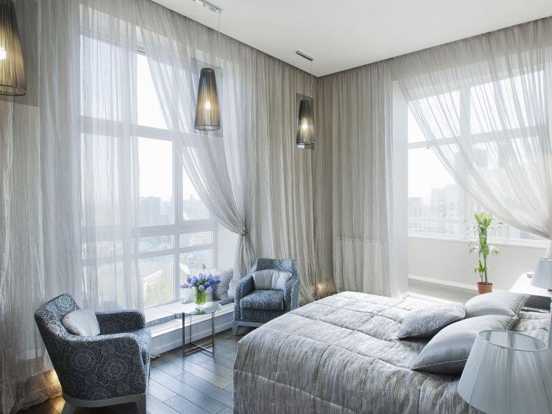 interior design trend - sheer curtains