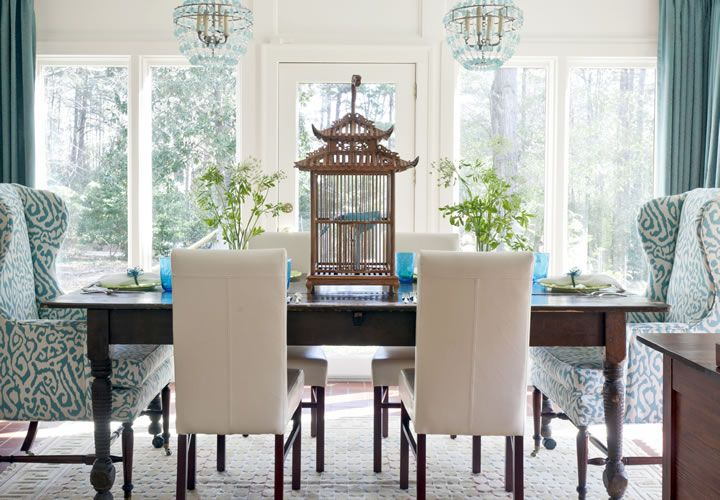 Dining set with different end chairs and side chairs