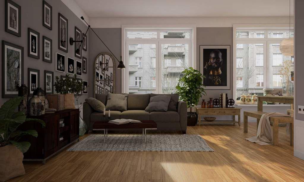 hardwood flooring in living room
