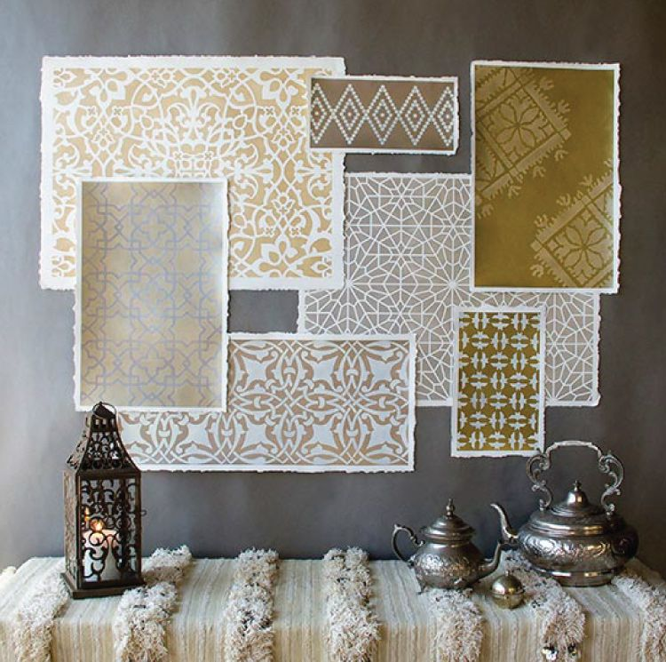 Moroccan-inspired stencils for decor