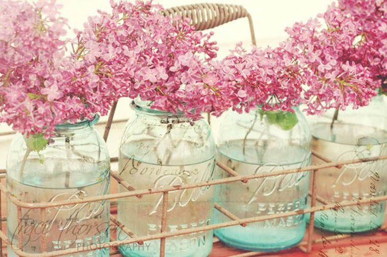 peonies flower arrangements in mason jars