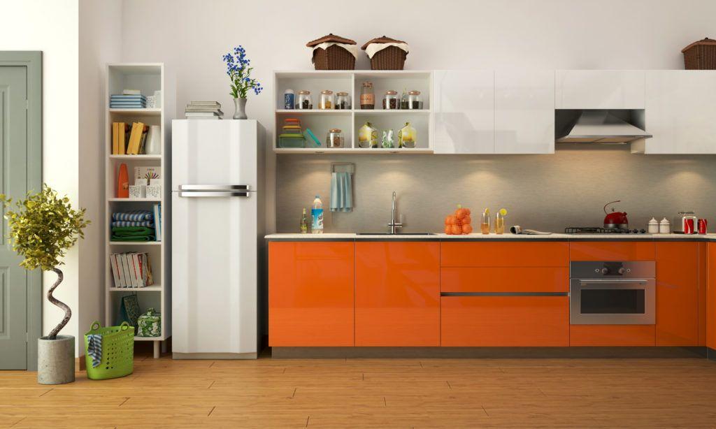 Kitchen for senior citizens - orange kitchen