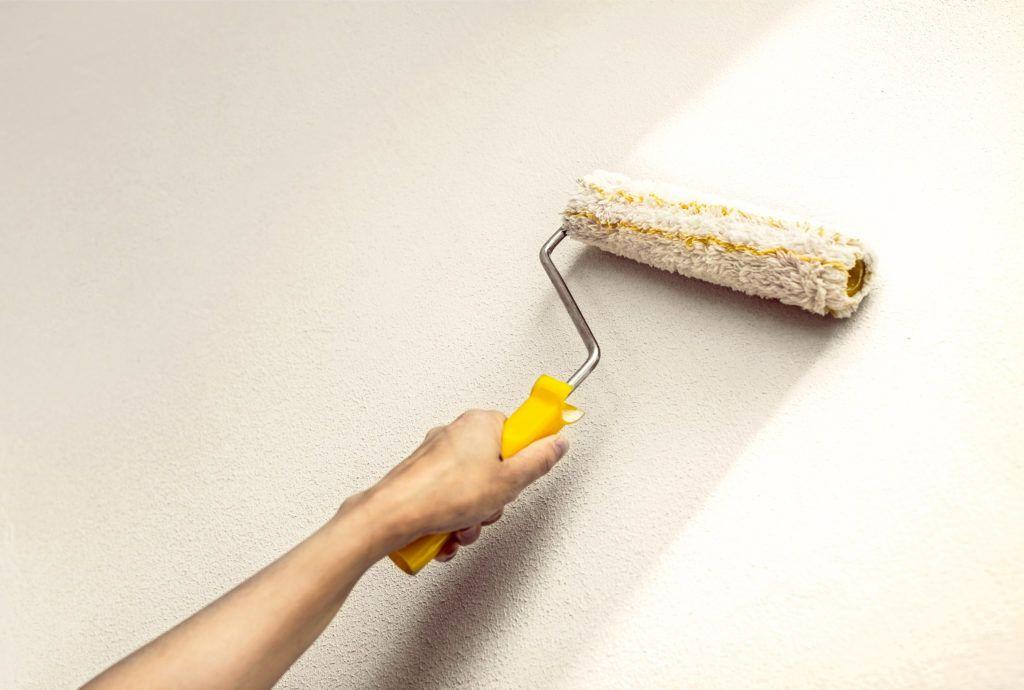 repaint a dark wall lighter