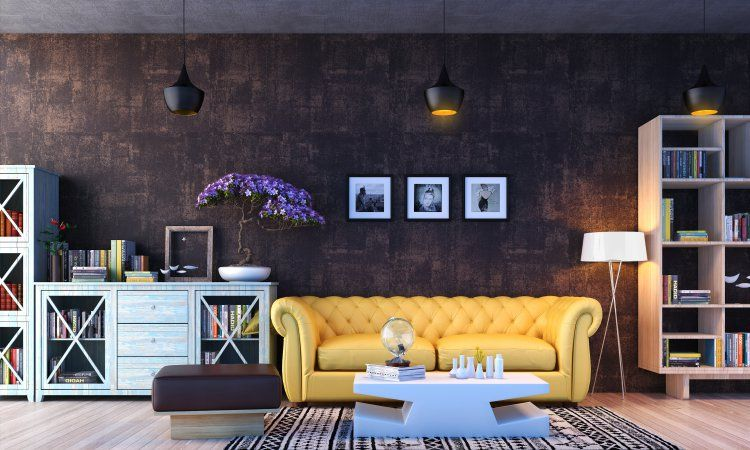 Multiple paintings above your sofa ensure your interior decor looks cohesive.