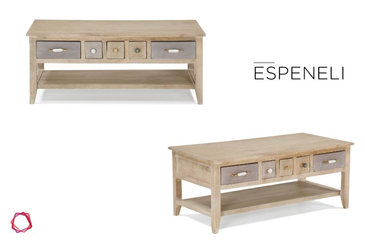 The Espeneli coffee table is sure to infuse rustic charm into any space.