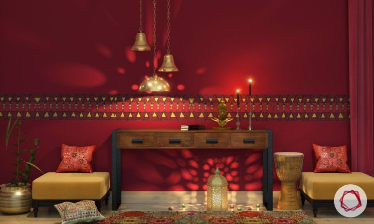 transitional spaces in traditional indian style interiors