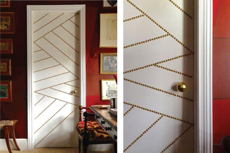Door design ideas_nailhead trim door