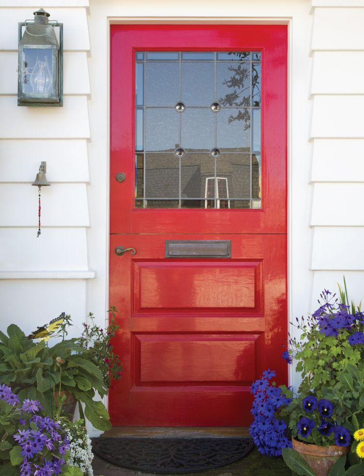 Door design ideas_red door