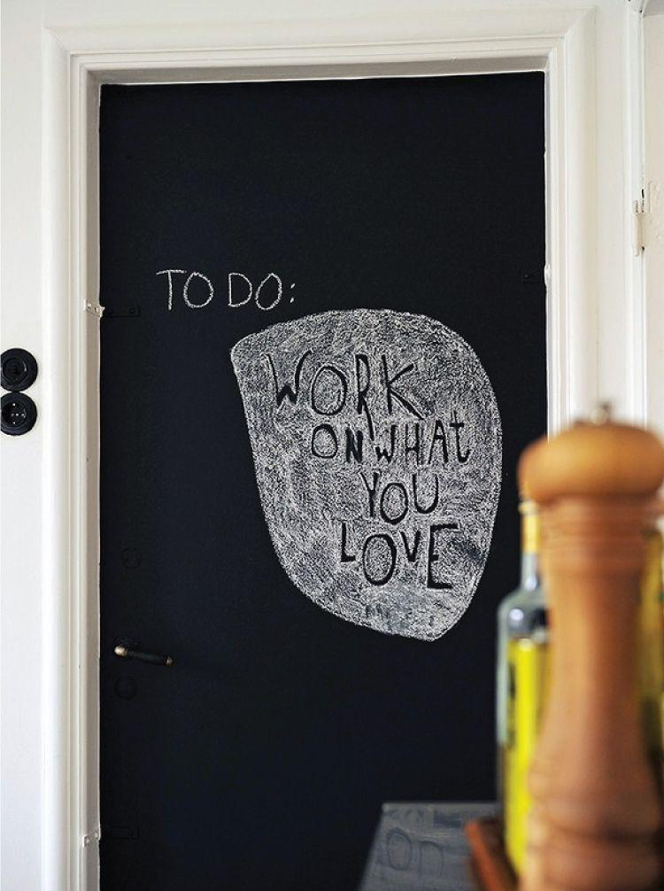 Door design ideas_chalkboard door