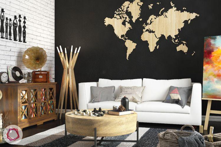 Clean light color sofa