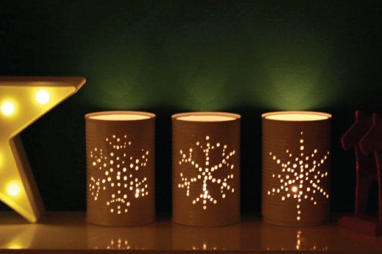 Tin can DIY night lights