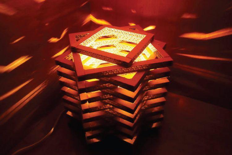 Geometric DIY night lights