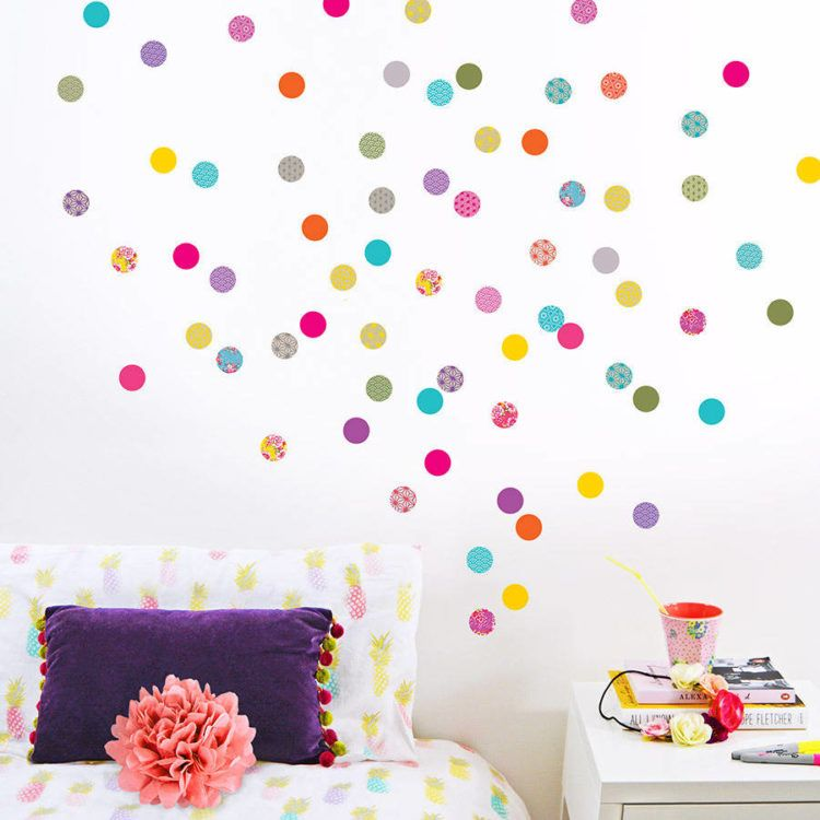 Walls with colorful polka dots