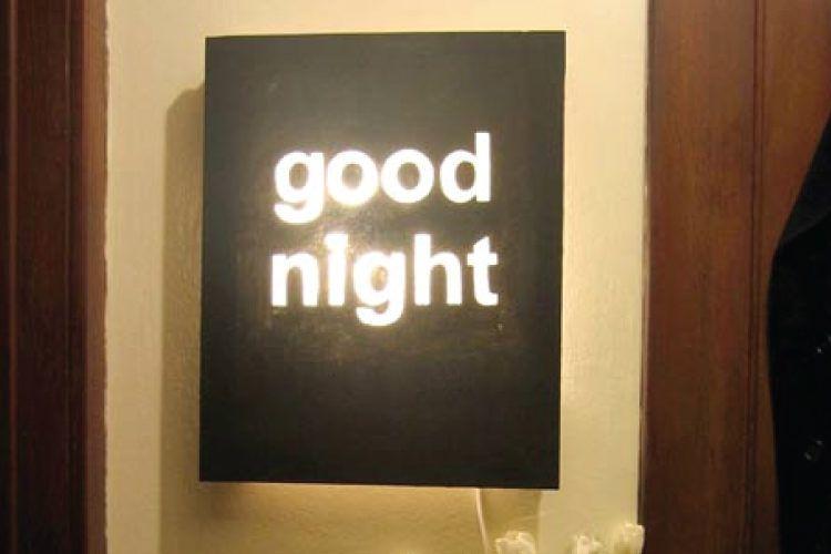 Good night DIY light