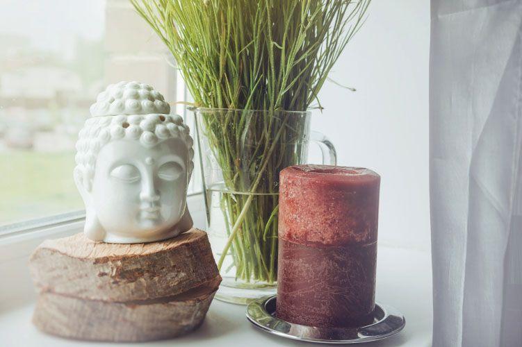 Buddha candle vase