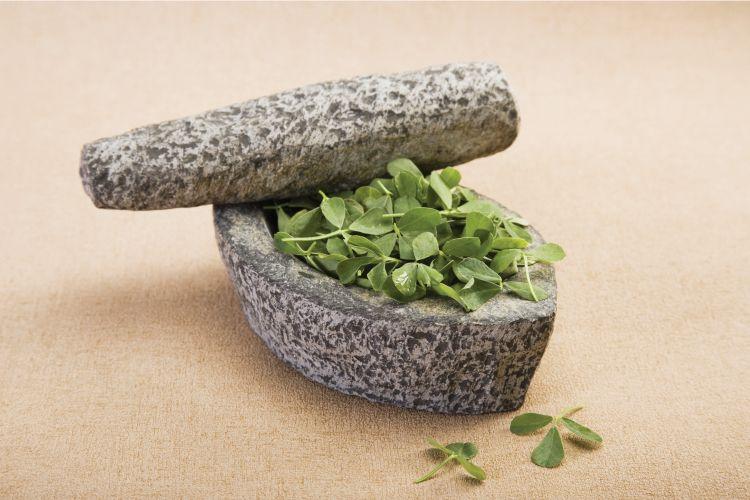 indian herbs kitchen-fenugreek or methi