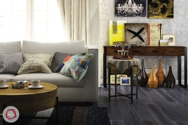 place artwork on your console table