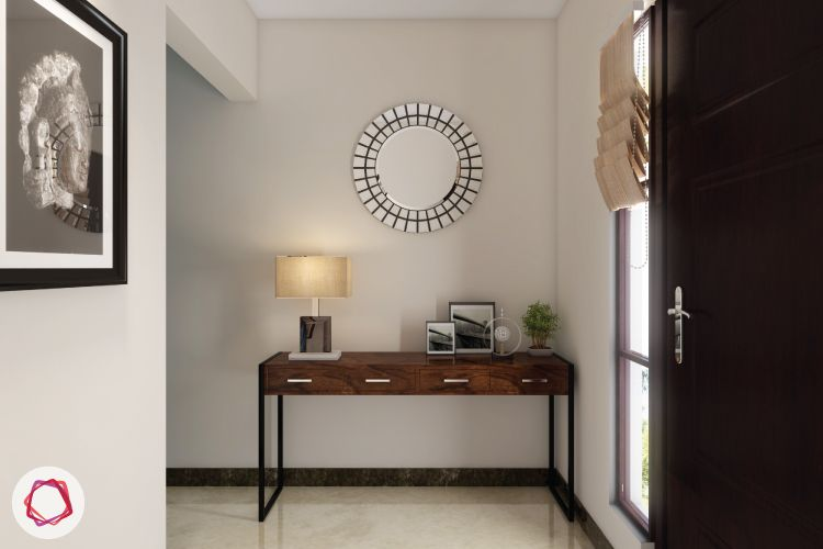 style your console table with a mirror