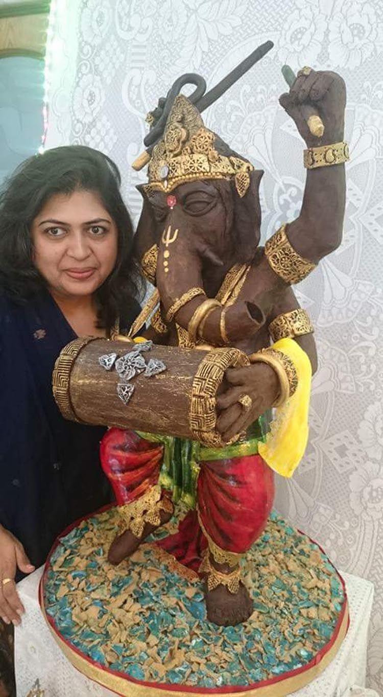 Rintu Rathod is making news with her chocolate idol this Ganesh Chaturthi.