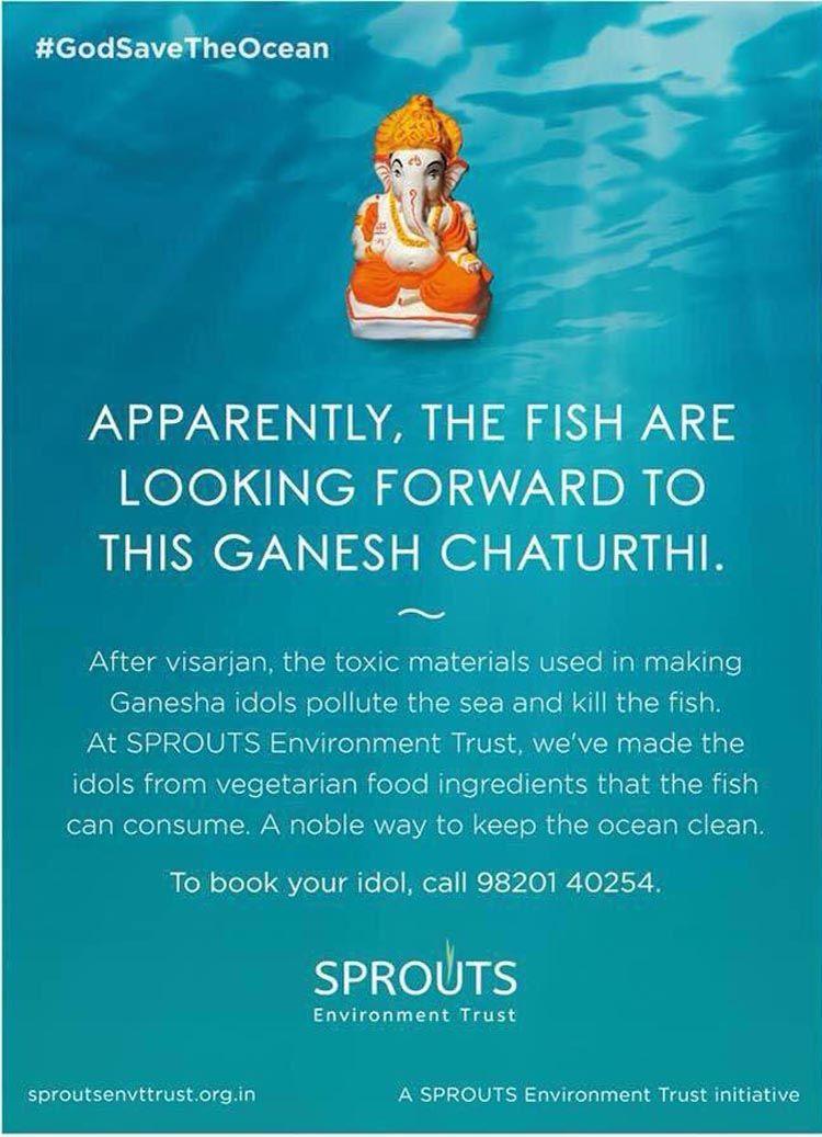 Say no to POP idols. Purchase an eco-friendly idol, instead, this Ganesh Chaturthi.