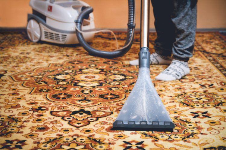 Vacuum regularly to clean Persian rug.