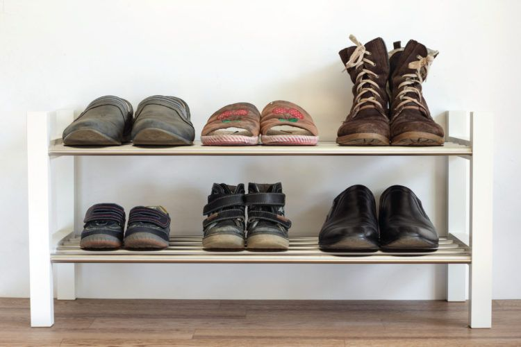 Winter wardrobe organisation_shoe rack