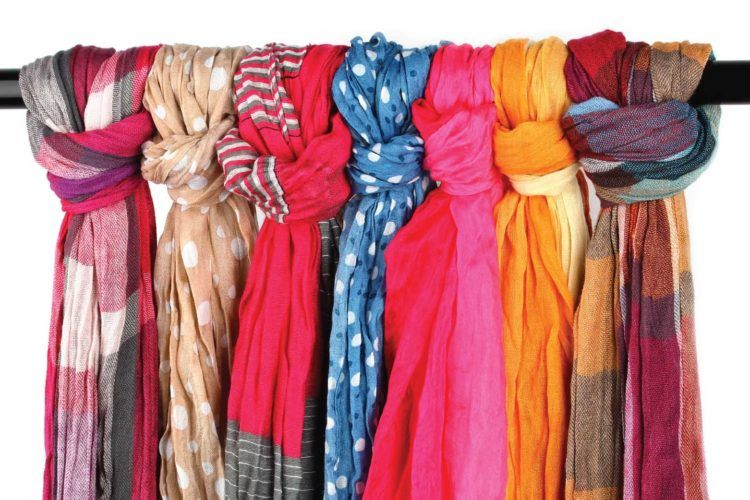 Winter wardrobe organisatin_scarves on a rod