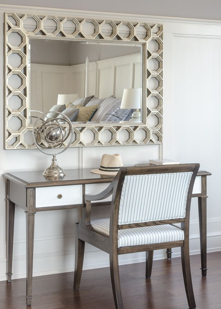 console table in guest room
