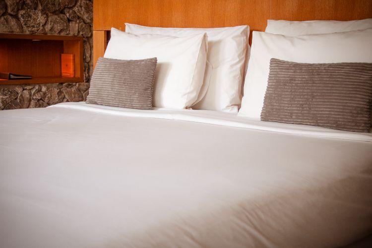 soft mattress in guest room