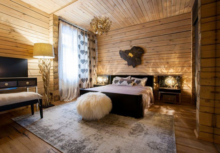 rustic style interiors with unfinished surfaces