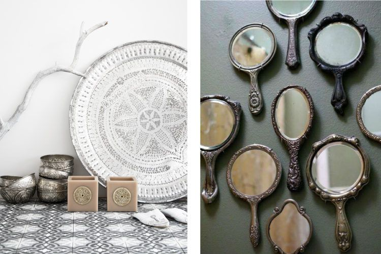 Group your silver items and display your silverware, like you would your art.