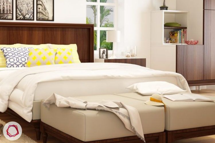 Use ottomans_by the foot of the bed