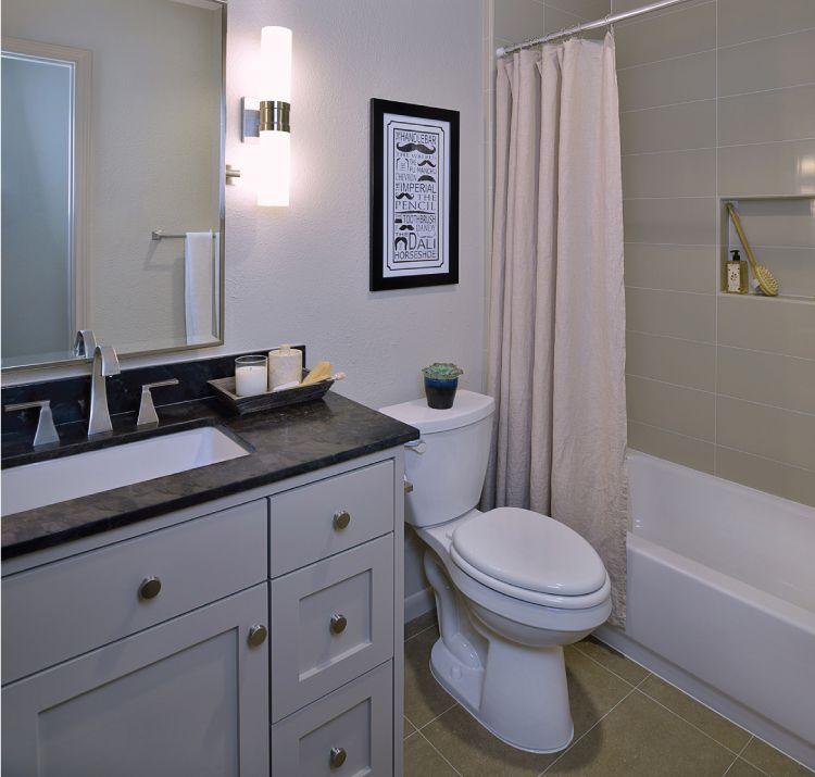 men's bathroom in bachelor pad