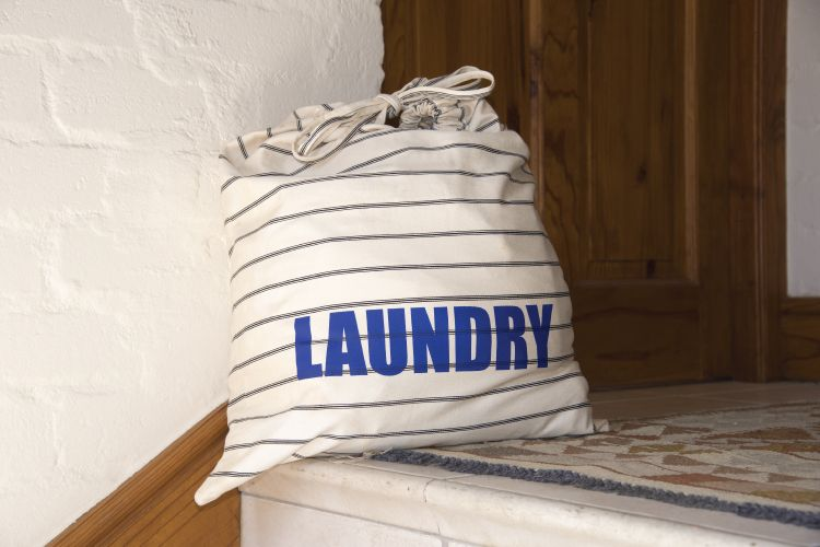 laundry bag in bachelor pad