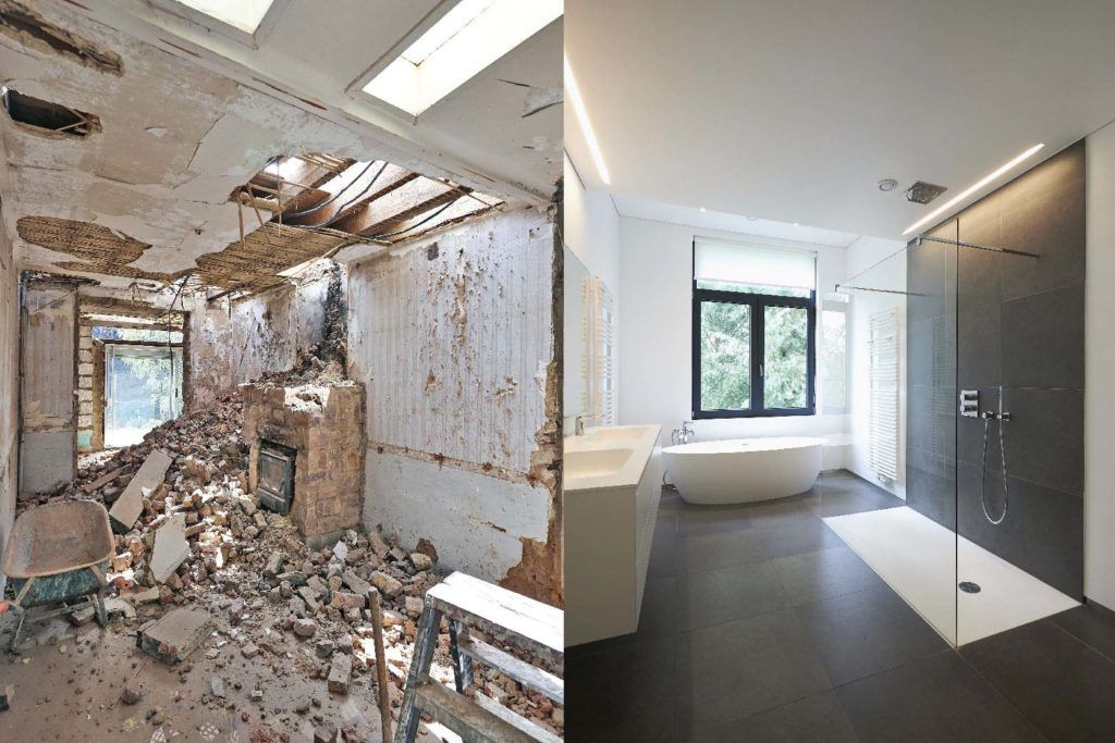 Budget renovation ideas_before and after bathroom renovation