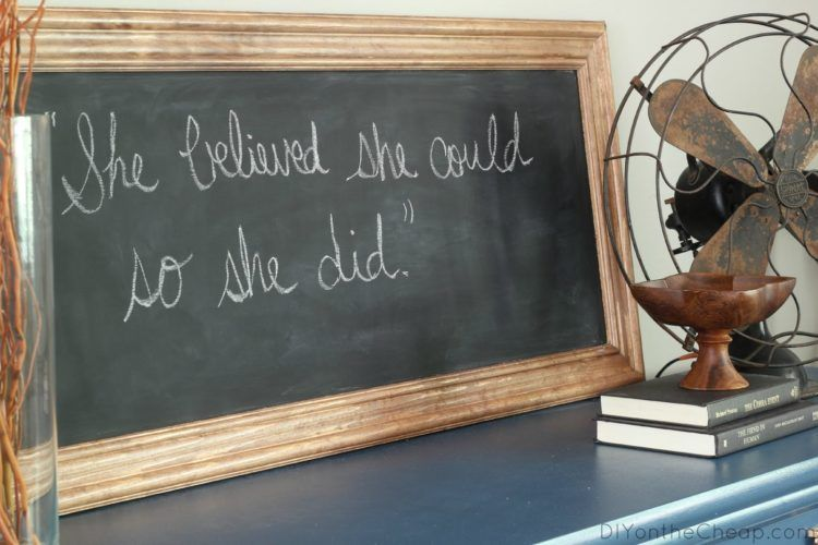 easy weekend projects framed chalkboard