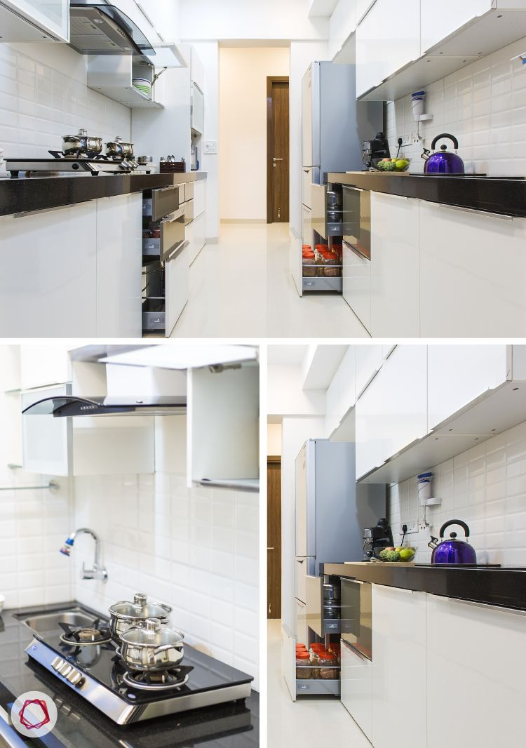 Mumbai interior design_Livspace home_all white kitchen