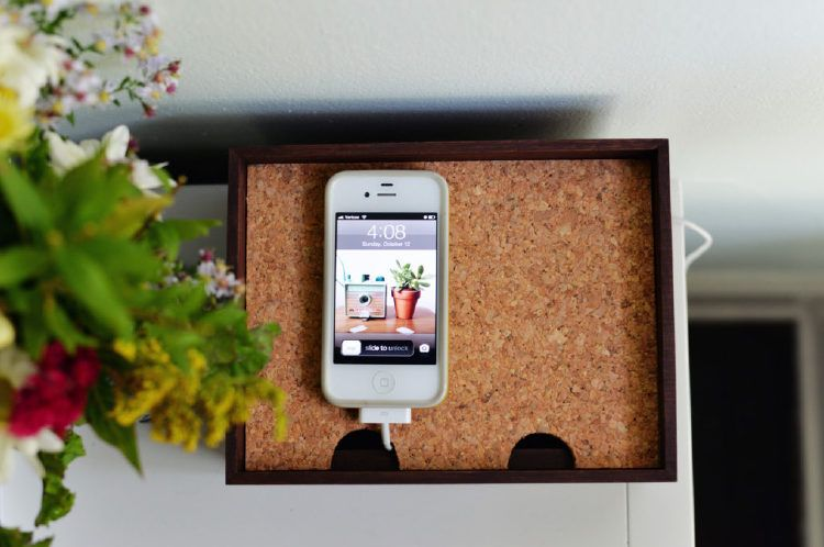 Concealed charging station to hide gadget cables