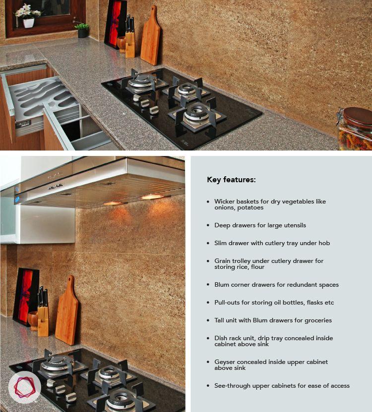 Delhi kitchen interior design - hob, chimney and best features