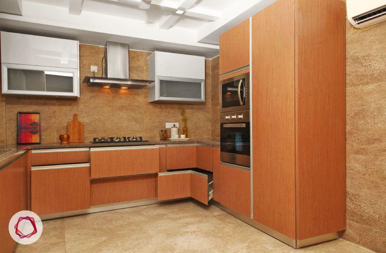 Delhi kitchen interior design - smart modular storage options