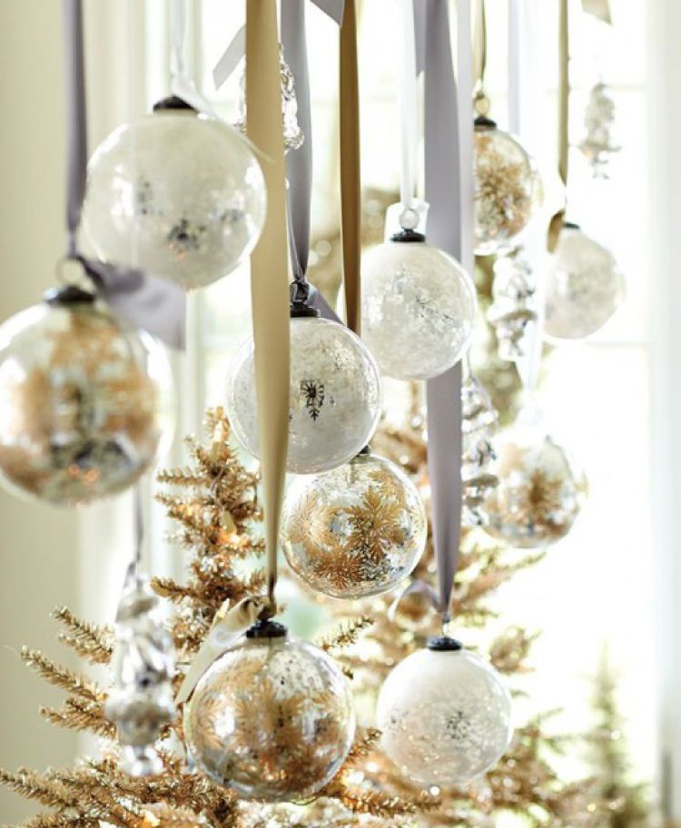 Christmas Ideas-shiny hanging baubles
