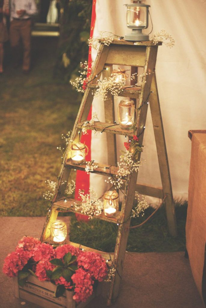 Christmas Decoration-ladder-candles