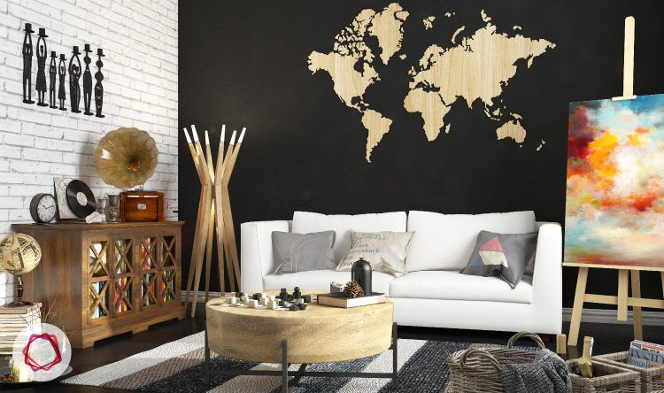 art trends Maps on walls