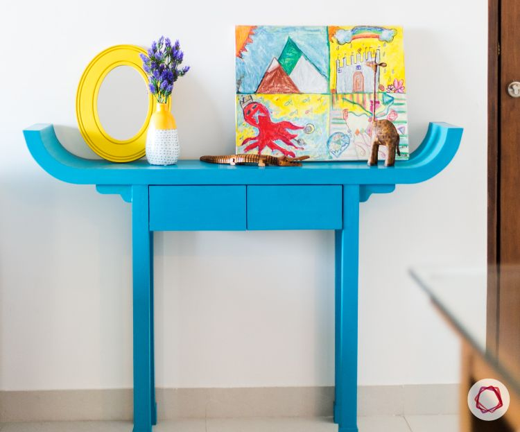 Mumbai interior design-entry console