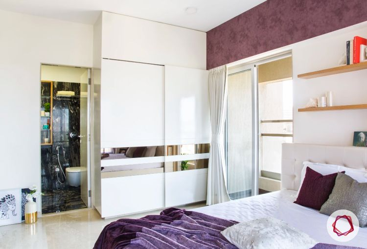 Mumbai interior design_white wardrobes