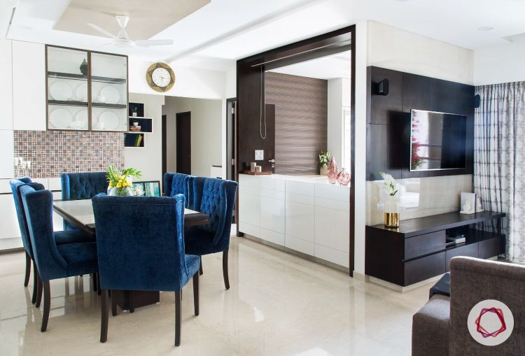 Mumbai interior design_open living cum dining