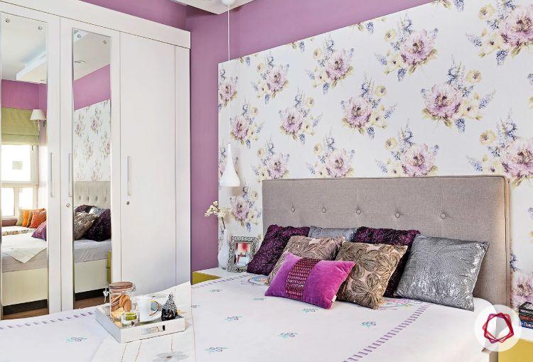 Noida interior design_grey headboard