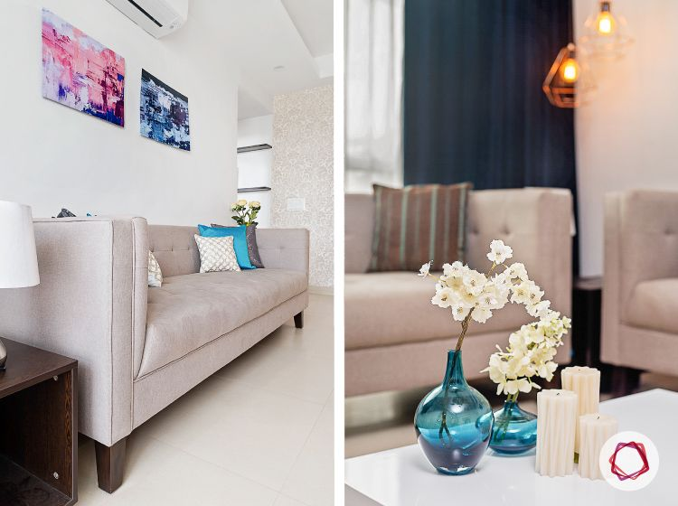Noida interior design_button tufted couch