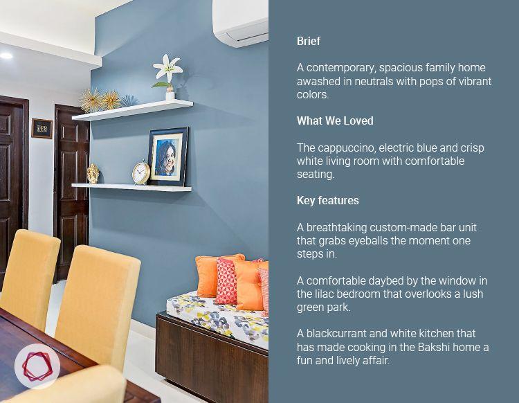 Noida interior design_charcoal grey wall